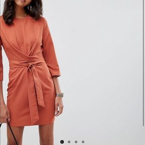 Burnt orange ASOS dress NWT